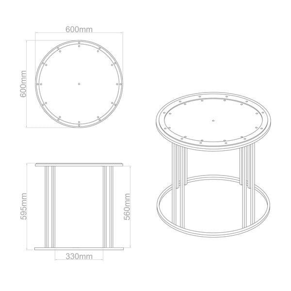 Odkládací stolek Clock Face