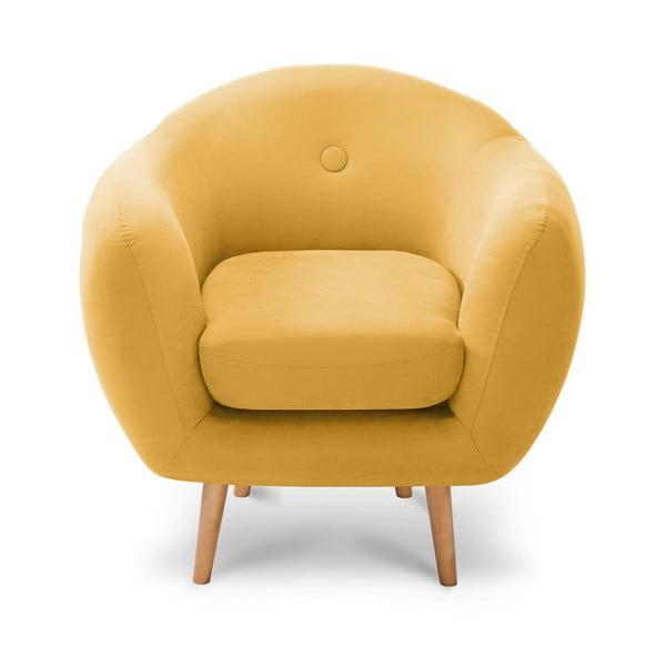 Żółty fotel Scandi by Stella Cadente Maison Bella