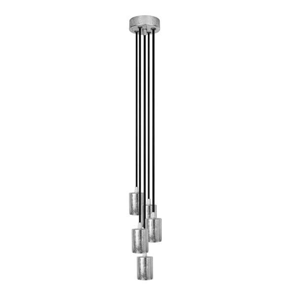 Pětice závěsných kabelů Cero, stříbrná/černá/stříbrná