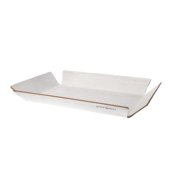 Dřevěný tác Trayo 35x50 cm, bílý