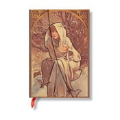 Notes Alfons Mucha Winter Child, čistý papír
