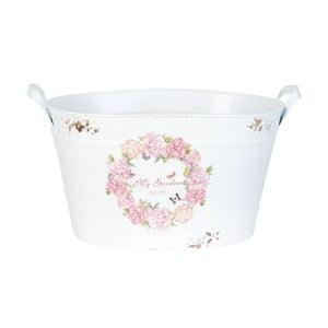Bílý květináč Clayre & Eef My Garden