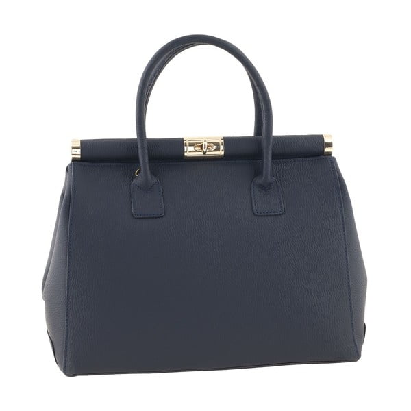 Kožená kabelka Italian Elegance, modrá