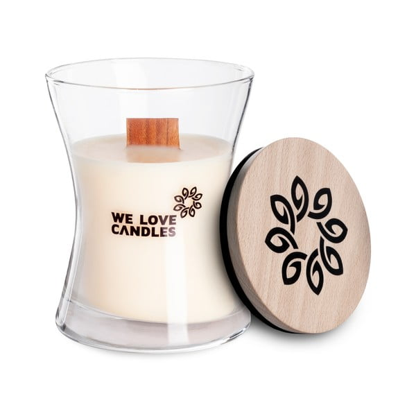 Świeczka z wosku sojowego We Love Candles Ivory Cotton, 48 h