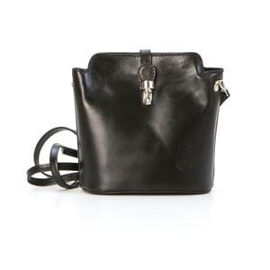Černá kožená kabelka Pia Sassi Rome