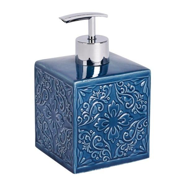 Tmavě modrý keramický dávkovač na mýdlo Wenko Cordoba