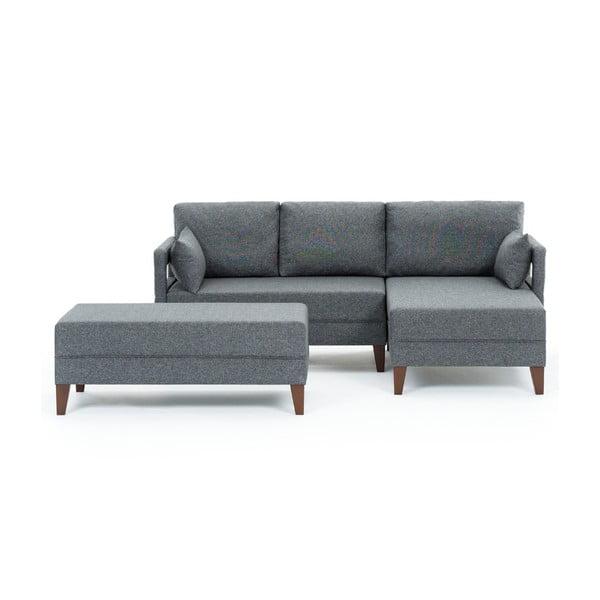 Home Emma szürke kinyitható kanapé, jobb oldali - Balcab