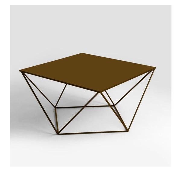 Konferenční stolek ve zlaté barvě Custom Form Daryl, 80x80cm