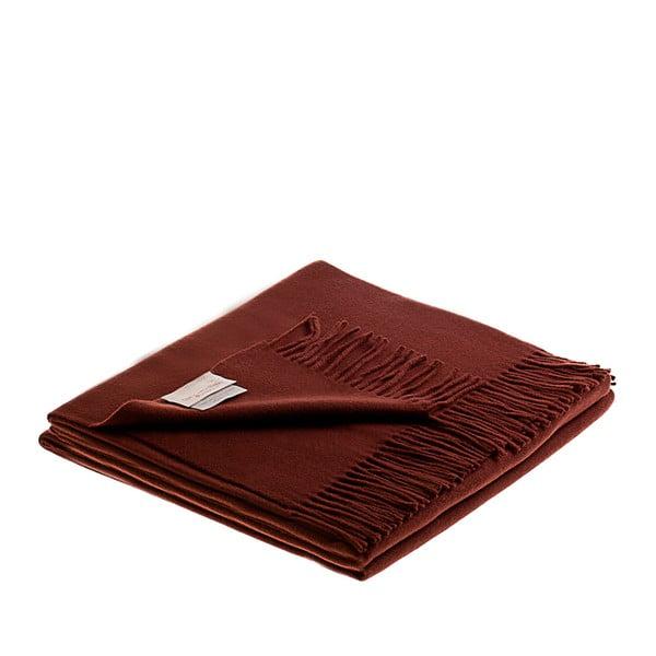 Vlněný pléd Lovely 130x180 cm, čokoládový