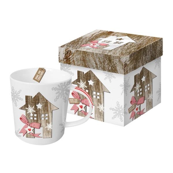 Hrnek z kostního porcelánu s vánočním motivem v dárkovém balení PPD Country Xmas Home, 350 ml