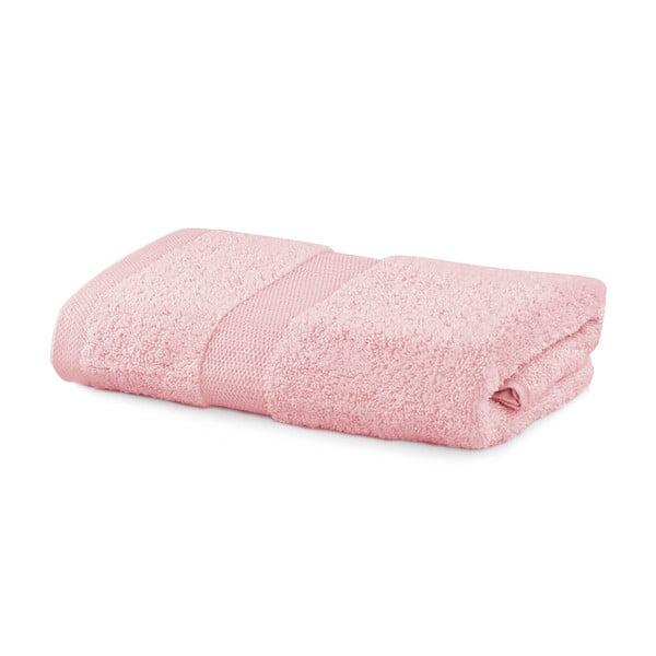 Růžový ručník DecoKing Marina, 50 x 100 cm