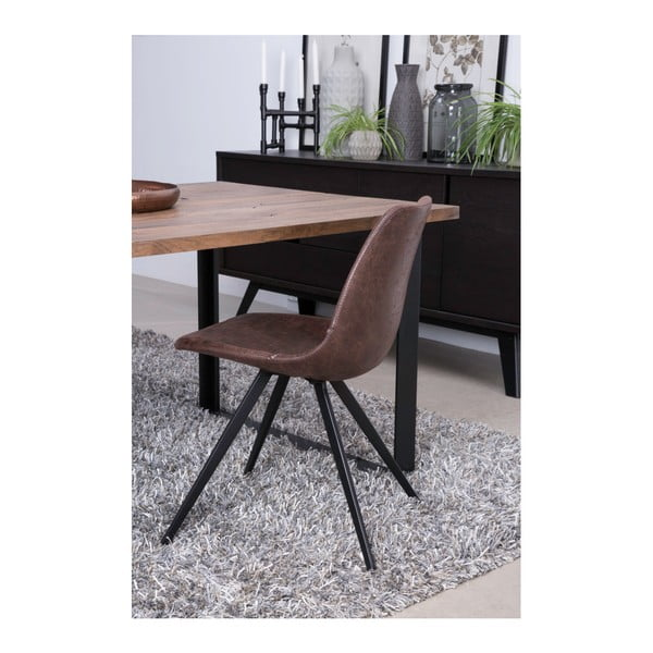 Tmavě hnědá jídelní židle Canett Liva