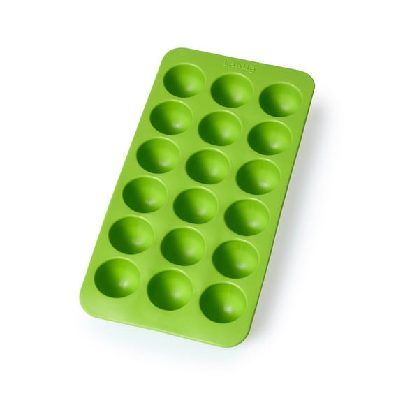 Zelená silikonová forma na led Lékué Round, 18 kostek