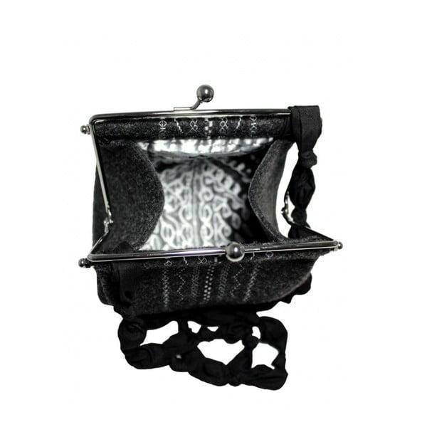 Plstěná vyšívaná kabelka s kuličkovým páskem Sote