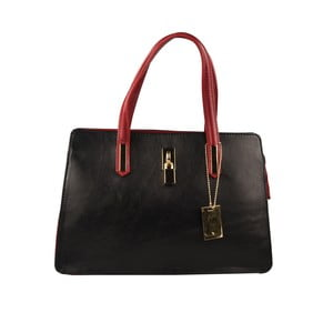Červeno-černá kožená kabelka Matilde Costa Tambo