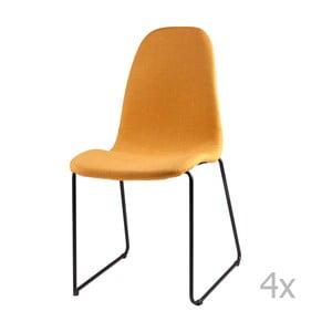Set 4 scaune sømcasa Helena, galben