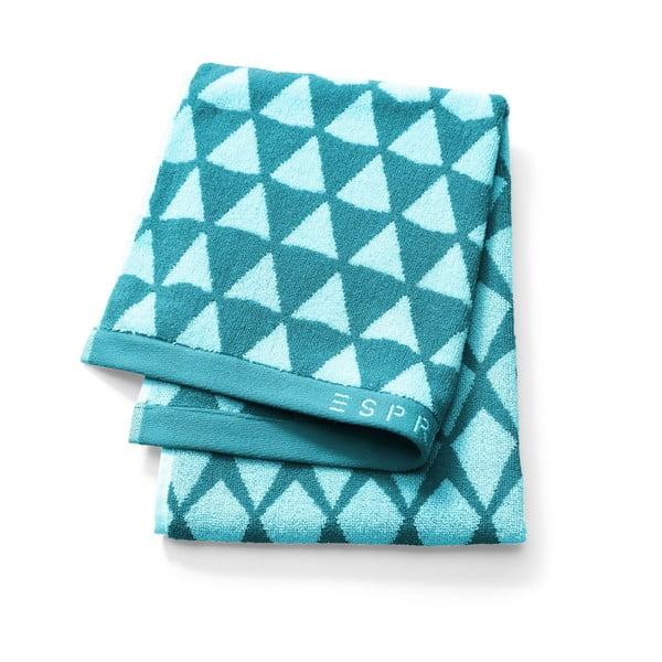 Modrý vzorovaný ručník Esprit Mina, 30x50cm
