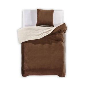 Lenjerie de pat din microfibră DecoKing Teddy, 135 x 200 cm, maro