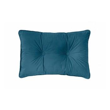 Pernă Tiseco Home Studio Velvet Button, 40x60cm, albastru închis de la Tiseco Home Studio