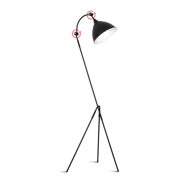 Černá volně stojící lampa Glimte Mekko Black
