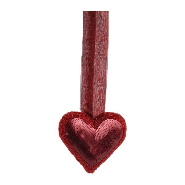 Závěsné srdce, malé, červené