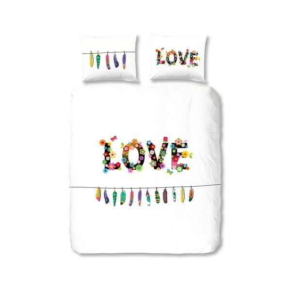 Bavlněné povlečení Muller Textiel Flower Love, 135 x 200 cm