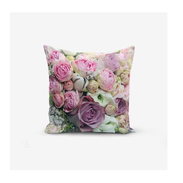 Față de pernă din amestec de bumbac Minimalist Cushion Covers Roses, 45x45cm