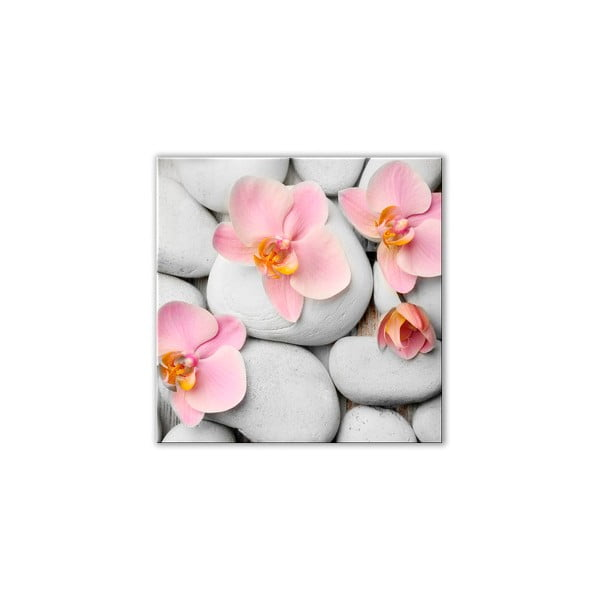 Tablou din sticlă Styler White Stones, 30 x 30 cm
