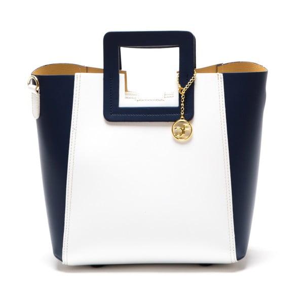 Kožená kabelka Camoa, modrá