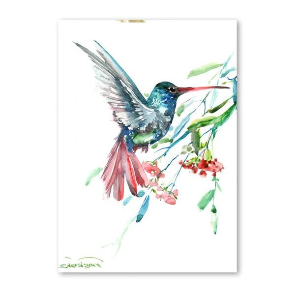 Autorský plakát Americanflat Humming Bird Flowers od Surena Nersisyana, 42x30cm