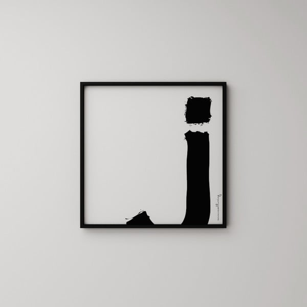 Plakát Litera J, 50x50 cm