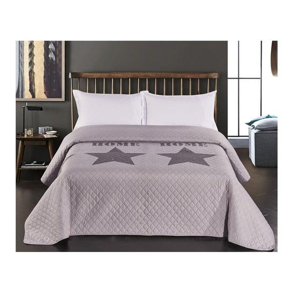 Starly szürke kétoldalas mikroszálas ágytakaró, 220 x 240 cm - DecoKing