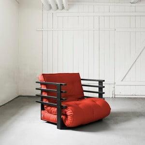 Rozkládací křeslo Karup Funk Black/Red