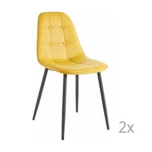 Sada 2 žlutých  jídelních židlí 13Casa Dakota