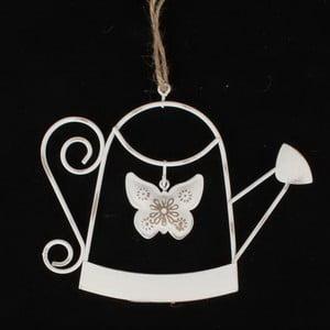 Bílá kovová závěsná dekorace Dakls Jara