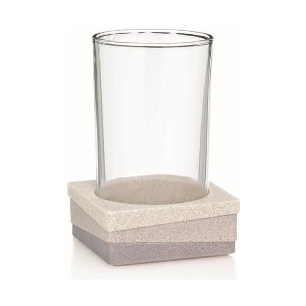 Hnedá sklenice s držákem Kela Valura