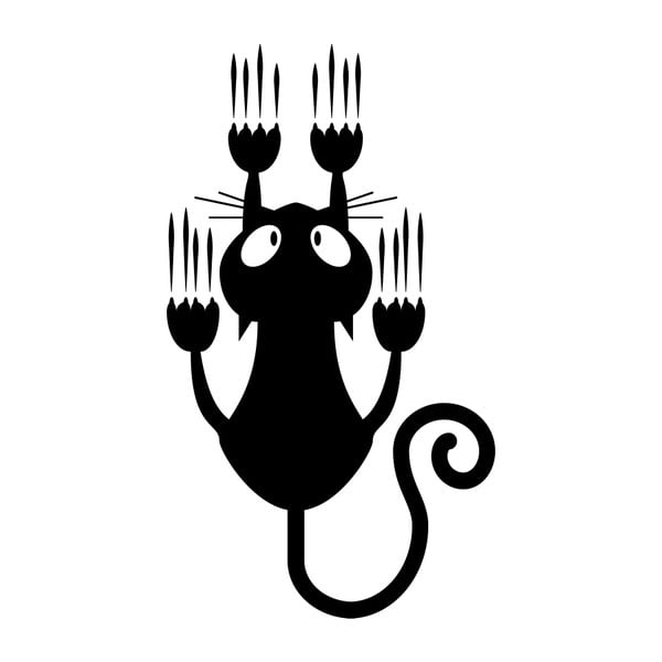 Samolepka Sliding Cat