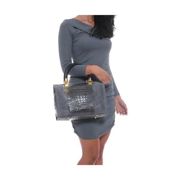 Kožená kabelka Isabella Rhea 822, šedá