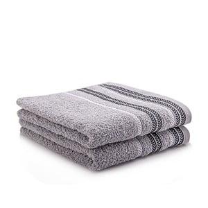 Sada 2 ručníků Hugo Grey, 50x90 cm