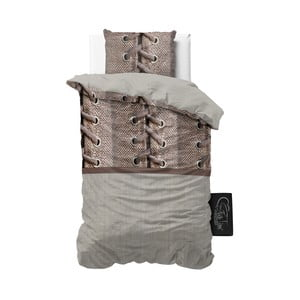 Lenjerie de pat din micropercal Sleeptime Laces, 140 x 220 cm
