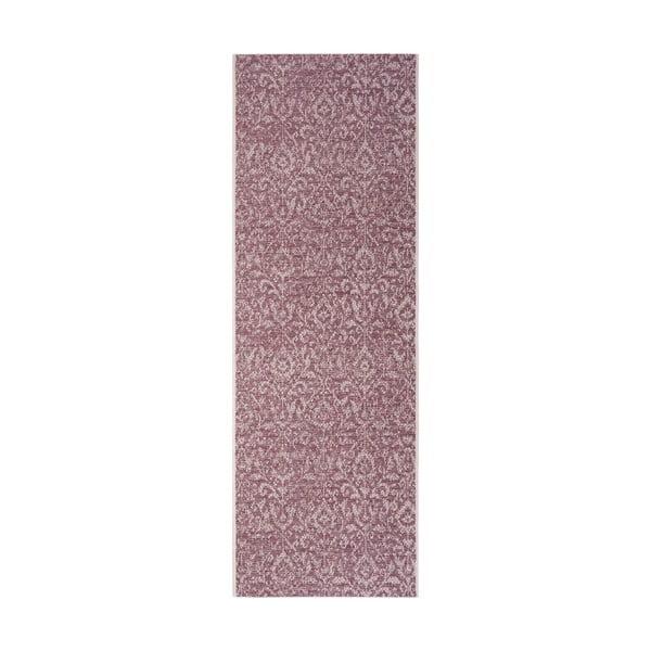 Covor potrivit pentru exterior Bougari Hatta, 70 x 200 cm, violet - bej