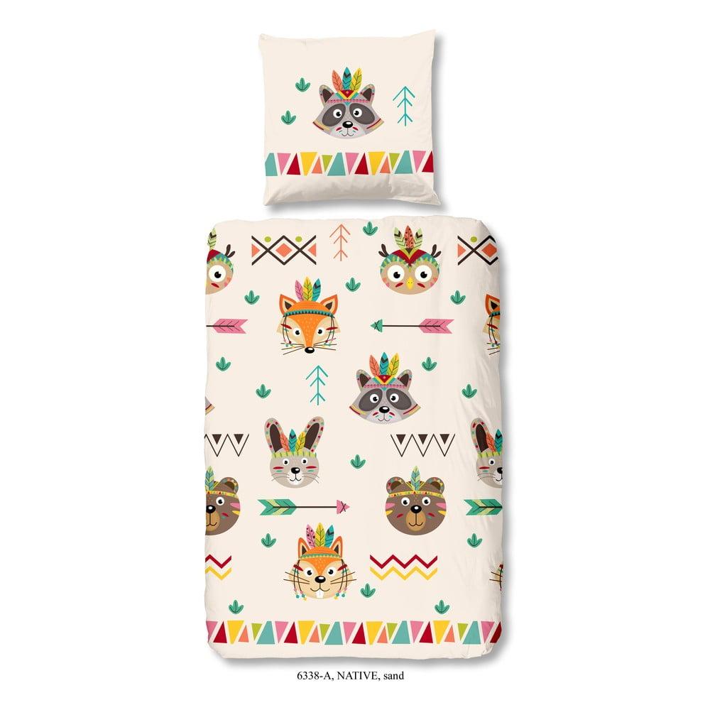Dětské povlečení na jednolůžko z bavlny Good Morning Native, 140 x 200 cm Good Morning