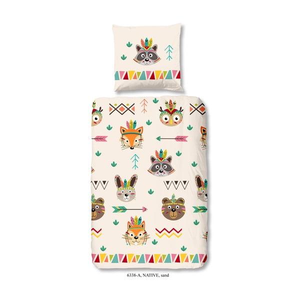 Detské obliečky na jednolôžko z bavlny Good Morning Native, 140×200 cm