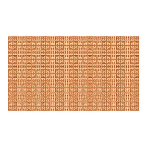 Vinylový koberec Ghazal Orange, 52x240 cm