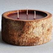 Palmová svíčka Legno Bordeux s vůní exotického ovoce, 80 hodin hoření z kavárny U Kubistů