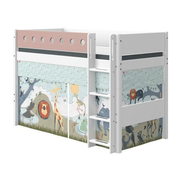 Růžovo-bílá dětská postel Flexa White, výška 143 cm