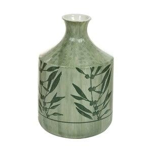 Zelená kameninová váza Santiago Pons Florist, výška 23cm