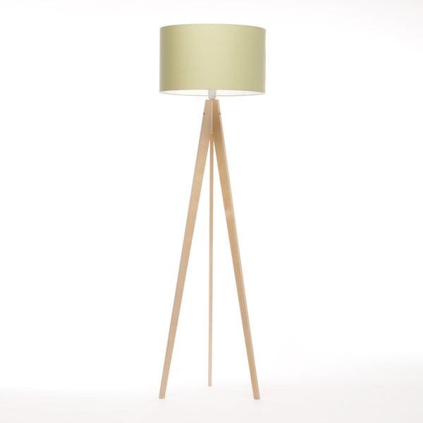 Zelená stojací lampa Artist, bříza, 150 cm