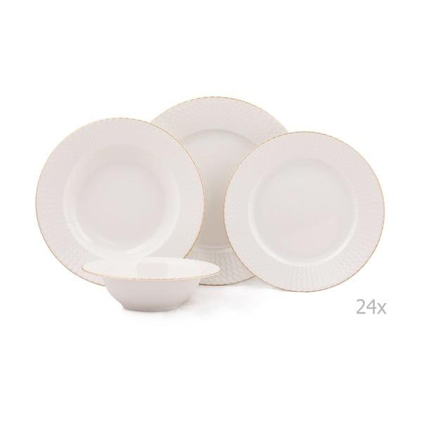 24dílná sada porcelánového nádobí Kutahya Galla
