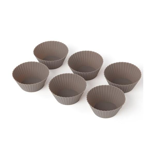Set 6 forme din silicon pentru brioșe Sabichi Cone